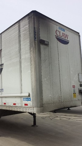 Semi-Trailer Before Cleaning