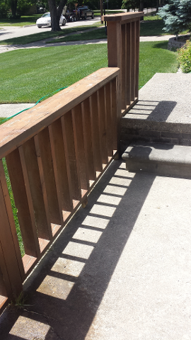 Fence Paint Removal, Before