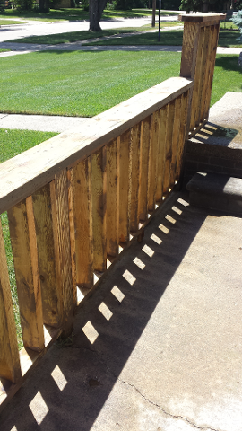 Fence Paint Removal, After