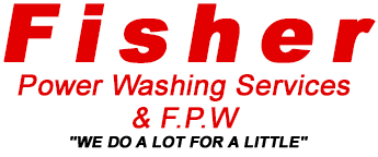 Fisher Power Washing Services & F.P.W. Logo